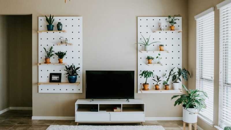 how to cover pegboard with fabrics